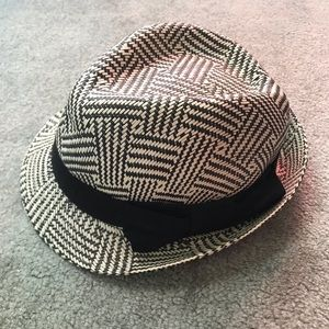Black and White Fedora
